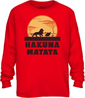 Disney Lion King Hakuna Matata Pumbaa Timon Africa Simba Mufasa Disneyland World Tee Adult Graphic Long Sleeve Shirt