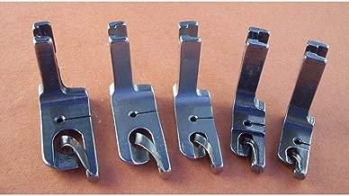 NGOSEW 5 Fixed HIGH Shank Scroll Hemmer FEET Foot Set for Juki DDL-5550,DDL- 8300, DDL-8500, DDL-8700