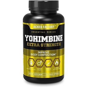 Yohimbine Extra Strength Supplement 2.5mg, 270 Capsules - Premium Yohimbe Bark Extract Supplement for Body Recomposition, Energy & More - Zero Fillers - 270 Non GMO Veggie Capsule Pills
