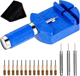 Watch Link Removal Tool Kit, Cridoz Watch Band Tool Chain Link Pin Remover with 12pcs Pins and 3pcs Pin Punches for Watch ...