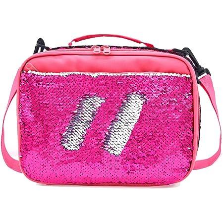 Mibasies Kids Insulated Lunch Box for Girls Rainbow Mermaid Bag Mermaid Pink