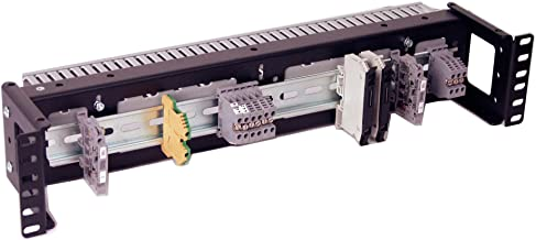 IRP1023D 2U Rackmount 3.78 inch Low Profile DIN Rail Panel for Industrial Standard 19 inch 2-Post Relay Rack or 4-Post Rack Cabinet