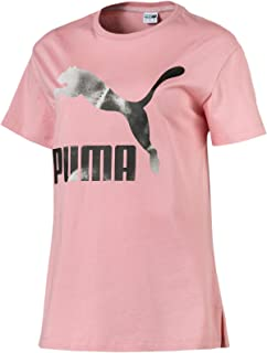 PUMA Women's Cloud Pack Graphic Tee Bridal Rose, (Pink 14), Small
