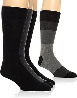 Calvin Klein Men's Blocked Micro-Stripe Crew Socks - 4 Pack