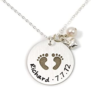footprint necklace child