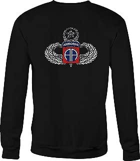 Motorcycle Crewneck Sweatshirt Military Airborne Silver Jump Wings