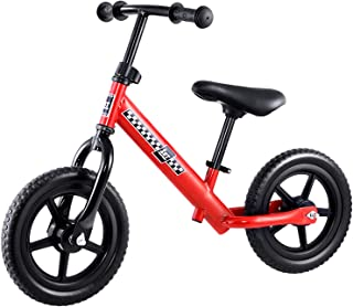 12 Inch Ultra Lightweight and Portable Kids Balance Bike Bicycles Outdoor (Red)