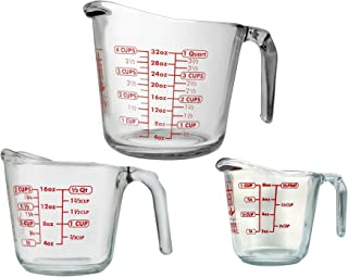Best Anchor Hocking 77940COM Anchor 77940 3-Piece Measuring Cup Set, Set of 3, Clear Review