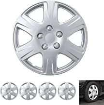 """Best BDK Wheel Guards – (4 Pack) Hubcaps for Car Accessories Wheel Covers Snap Clip-On Auto Tire Rim Replacement for 15 inch Wheels 15"""" Hub Caps (Replica for Camry) Reviews"""