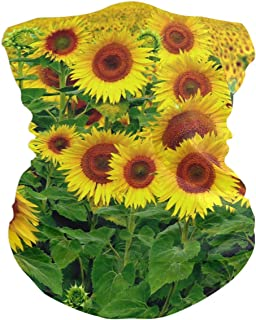 Sunflower Cool Bavaclava Face Mask for Women Bandana Neck Gaiter Half Face Masks Cold Weather Men kids
