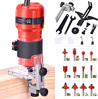 CtopoGo Compact Wood Palm Router Tool Hand Edge Trimmer Woodworking Joiner Cutting Palmming Tool 30000R/MIN 800W 220V with...