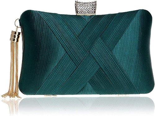 GETKO WITH DEVICE Women's Elegant Tassel Velvet Evening Party Clutch Bags Bridal Wedding Purse Handbags Fashion Suede...