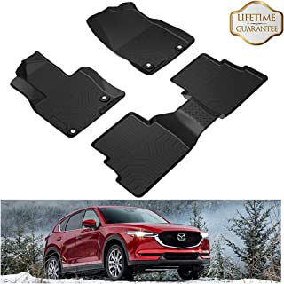 orealtrend Black TPO Floor Mats Liners for Mazda CX-5 CX 5 2017 2018 2019 Heavy Duty All Weather Guard Front and Rear Car Carpet-Custom Fit-Tough//Durable//Odorless