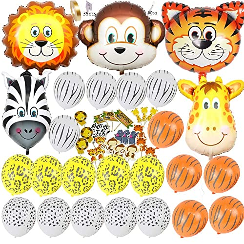 ccb0be0627953 Safari Jungle Zoo Huge Animal Head Balloon Jumbo Balloons Zebra
