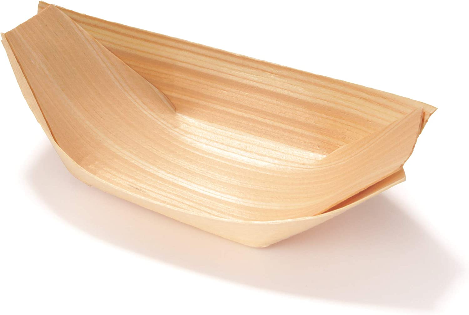 HANDMADE WOVEN BAMBOO BOAT SERVING DISH NATURAL AUTHENTIC GREAT FOR SNACKS