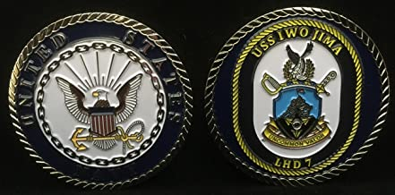 USS Iwo Jima LHD 7 (Enlisted) Challenge Coin