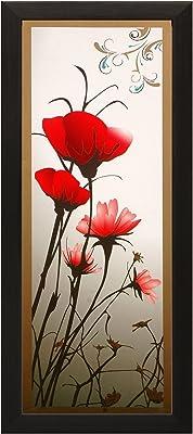 SAF Special Effect Textured Floral with UV Print Painting (SANFO157, 15 cm x 3 cm x 38 cm) SANFO157