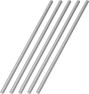 TOPPROS Pack of 5 Round Steel Rod, Diameter 6mm HSS Lathe Bar Stock Tool 200mm /7.87 inch Long, for Shaft Gear Drill Lathe...