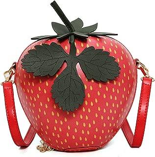 Melissa Wilde Red Circular Strawberr Bag Fashion Female Messenger Bags Fruits Handbags Shoulder Bags Women Crossbody Bags
