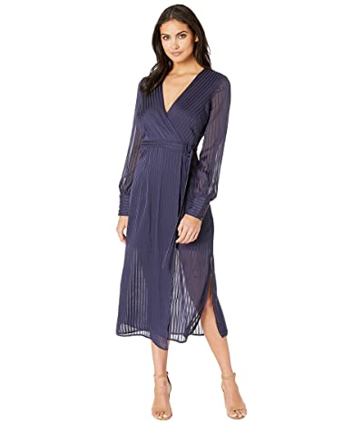 Bardot Shadow Stripe Dress (French Navy) Women