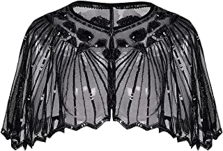 YOBAYE Women's 1920s Shawl Wrap Evening Cape Roaring 20s Costumes for Wedding Party