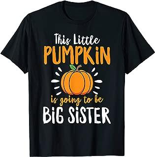 Little Pumpkin Pregnancy Announcement Halloween Boys Girls T-Shirt