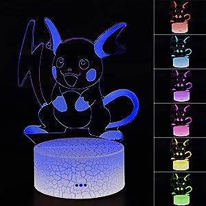 3D Illusion Lamp Toys Night Light 7 Color Change Decor LED Desk Lamp (006)…
