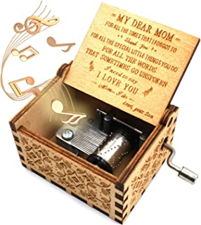 ukebobo Wooden Music Box – You are My Sunshine Music Box, from Son to Mom - 1 Set