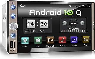 XOMAX XM 2VA769 Autoradio mit Android 10, Quad Core, 2GB RAM, 32GB ROM, GPS Navigation I Support: WiFi WLAN, 3G 4G, DAB+, OBD2 I Bluetooth, 7 Zoll / 18cm Touchscreen, USB, SD, AUX, 2 DIN
