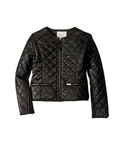 HABITUAL girl Jade Faux Leather Quilted Jacket (Big Kids) (Black) Girl