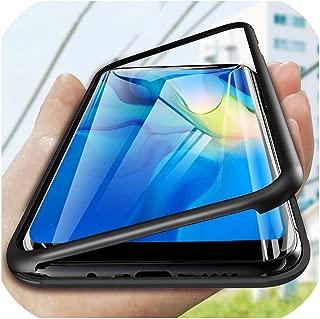 360フルカバー保護電話ケースHuawei P20 P10 P30 Lite Mate 10 20 Pro 20XケースP Smart 2019 Nova 3 Honor 8Xカバー、P20用、ブラック