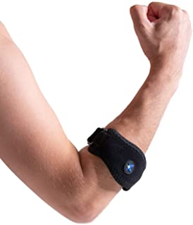 RiptGear Tennis Elbow Brace with Compression Pad – Adjustable Elbow Strap Designed for Tennis Elbow Golfer's Elbow Tendonitis for Both Men and Women