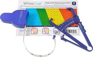 White Coat Skinfold Body Fat Caliper and Body Tape Measure Set
