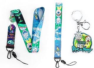 Rick and Morty Print Lanyard Key Chain ID Card Badge Holder Neck Strap (SLD-Rick Morty)