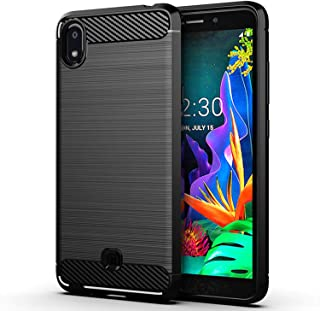 LG K20 2019 case,MAIKEZI Slim Soft TPU Anti-Fingerprint Non-Slip Protective Phone Case Cover for LG K20 2019 Black LG K20 ...