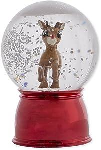 Wobble Rudolph Light-up 3 inch Acrylic Decorative Table Top Snow Globe