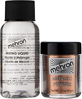Mehron Makeup Metallic Powder (.17 oz) with Mixing Liquid (1 oz) (COPPER)