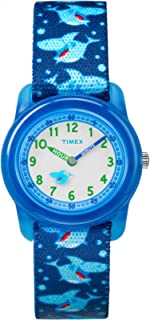 Youth Kids Analog 28mm Elastic Fabric Strap |Blue| Watch...