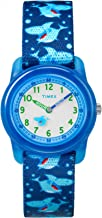 Timex Youth Kids Analog 28mm Elastic Fabric Strap |Blue| Watch TW7C13500