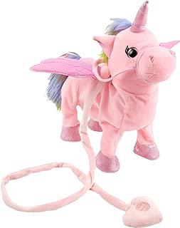 Houwsbaby Walking Unicorn Singsing Stuffed Electronic Animate Pegasus Interactive Cuddle Plush Toy Musical Space Unicorn Halloween Christmas, 10 inches (Pink)