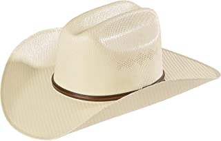 T71563 Adult's 5X Shantung 4-in Double-S/Double-S Western Hat w/eyelets White 7 1/4