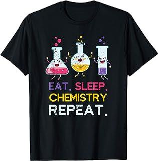 Laboratorio Comer Dormir Química Repetir Ciencia Químico Camiseta