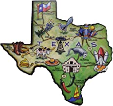 Treasure Gurus Texas The Lone Star State Large State Shaped Artwood Jumbo Fridge Magnet