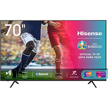 "Hisense 70AE7010F, Smart TV LED Ultra HD 4K 70"", HDR 10+, Dolby DTS, con, Alexa integrata, Tuner DVB-T2/S2 HEVC Main10 [Esclusiva Amazon - 2020]"