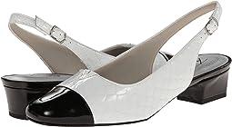 White/Black Patent Python Leather