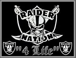 (2) Oakland Raiders Nation 4 Life Vinyl Window Stickers 5 x 3.8 Car Bumper Decal