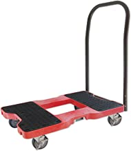 SNAP-LOC Push CART Dolly RED with 1,500 lb. Capacity, Steel Frame, Strap Option, 4 inch casters