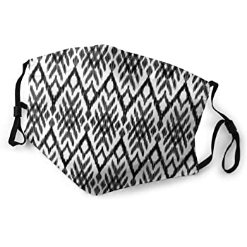 Amazon Com Fashion Comfortable Windproof Mask Diagonal Ethnic Bohemic Design Made With Stripes And Little Triangle Lines Art Printed Facial Decorations For Adult M Beauty