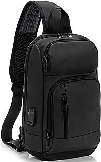 KINGSLONG Waterproof Sling Backpack Bag for Men Women with USB Charging Port, Crossbody Daypack Casual Chest bag Rucksack ...