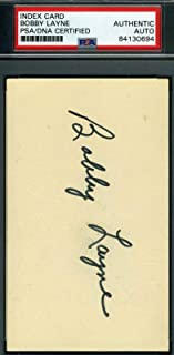 BOBBY LAYNE Autograph 3X5 Index Card Signed - PSA/DNA Certified - Football Slabbed Autographed Rookie Cards